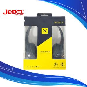 Audífonos Jedel Diadema Con Micrófono Para PC USB Sonyxer Basic 3 | audifonos de diadema con microfono | Audífonos con micrófono para computador